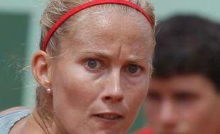 Mathilde Johansson à Roland-Garros le 30 mai 2012.