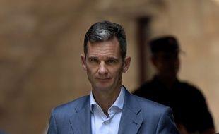 Iñaki Urdangarin à sa sortie du tribunal de Palma de Majorque, le 13 juin 2018 (photo d'archives).