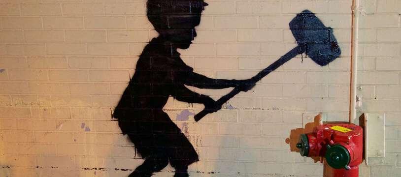 Une œuvre de Banksy à New-York en 2013.