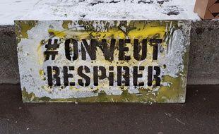 Une action de Greenpeace pour dénoncer la pollution de l'air (Illustration)