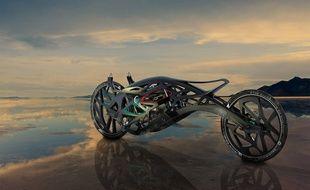 La «Saline angel», moto réalisée en impression 3D.