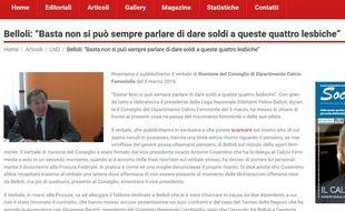 Un dirigeant italien est accusé d'homophobie.