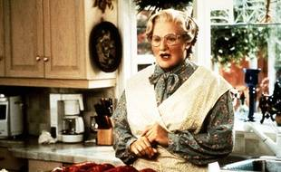 Robin Williams dans le film «Madame Doubtfire» en 1993.