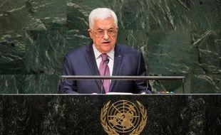 Le président de l'Autorité palestinienne, Mahmoud Abbas, le 26 septembre 2014 à la tribune de l'ONU, à New York