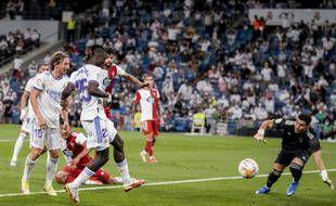 Eduardo Camavinga a inscrit un but pour ses grands débuts avec le Real Madrid, contre le Celta Vigo, le 12 septembre 2021.
