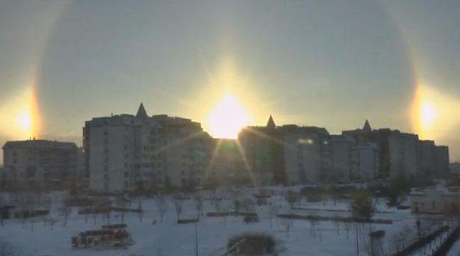 Un triple soleil filmé à Moscou