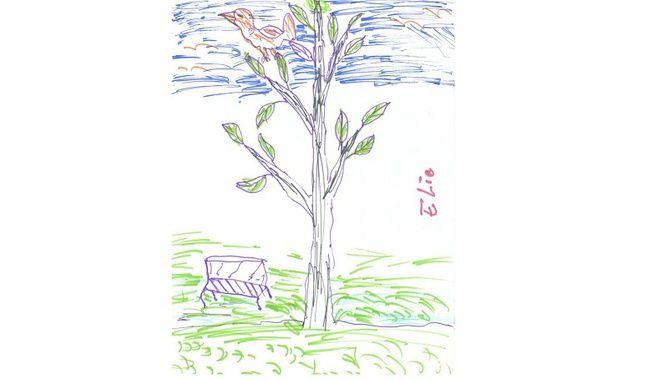 L'un des dessins d'Elie.