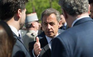 Nicolas Sarkozy lors des cérémonies du 8 mai 2018, à Paris.