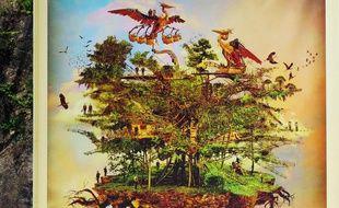 Dessin du projet d'Arbre aux hérons réalisé par Stéphan Muntaner pour les Machines de l'île.