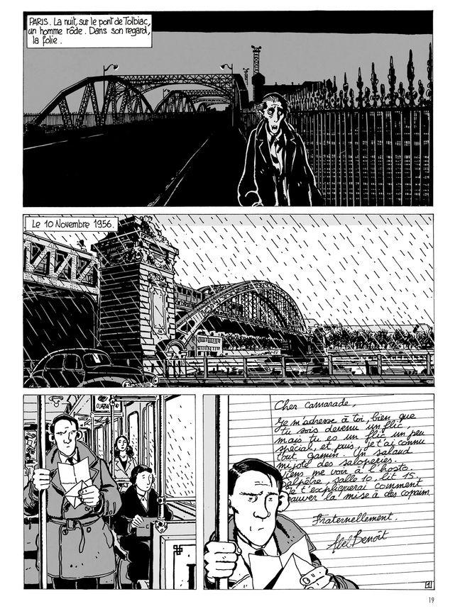 Planche de « Brouillard au pont de Tolbiac », adaptation de Léo Malet par Tardi.