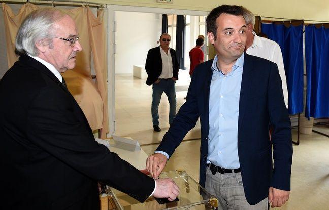 Le vice-president du FN, Florian Philippot a voté à Forbach dimanche 18 juin 2017.