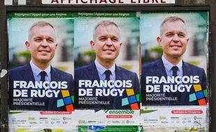 Des affiches électorales de François de Rugy dans les Pays-de-la-Loire. (illustration)