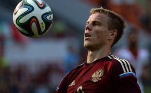 Aleksandr Kokorin lors du match entre la Russie et le Maroc le 6 juin 2014.