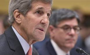 Le chef de la diplomatie américaine John Kerry comparaît devant la commission des Affaires étrangères à propos de l'accord sur le nucléiare iranien, le 28 juillet 2015 à Washington