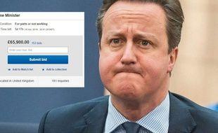 David Cameron mis en vente sur eBay