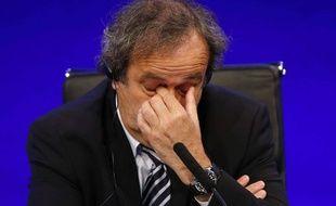 Michel Platini à l'UEFA le 8 octobre 2015.