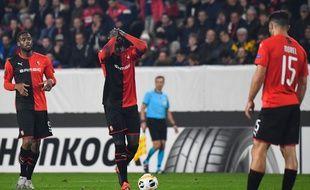 Le capitaine du Stade Rennais M'Baye Niang a manqué un penalty en première mi-temps.