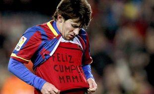 L'Argentin de Barcelone Lionel Messi, le 22 janvier dernier.