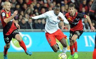Blaise Matuidi lors du match entre Guingamp et le PSG le 14 décembre 2014.