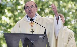 Lourdes (Hautes-Pyrénées), le 15 août 2016. Le cardinal de Lyon, Philippe Barbarin.