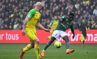 Paul-Georges Ntep, ici lors du succès stéphanois (0-3) le 1er avril à Nantes.