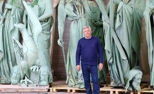 Patrick Palem, ex-PDG de l'entreprise Socra près de Périgueux, qui restaure notamment les statues des apôtres de Notre Dame de Paris.