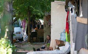 Un campement Rom Porte d'Aubervilliers à Paris le 1er août 2013