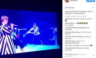 Capture d'écran de la prestation du jeune danseur le samedi 20 mai 2017 sur le plateau du SNL.