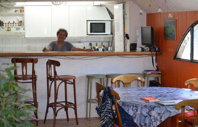 Geneviève Brichet dispose d'une surface de plus de 150 m2 dans sa péniche du Balthazar.