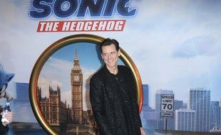 L'acteur Jim Carrey à la première de Sonic, à Londres, en janvier dernier