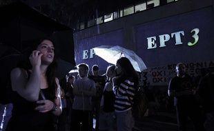 Le siège de la chaîne de télévision grecque ERT3 le 11 juin 2013.