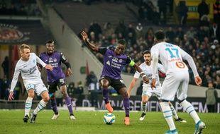 Max-Alain Gradel, le capitaine du TFC, le 24 novembre 2019 contre Marseille au Stadium de Toulouse.