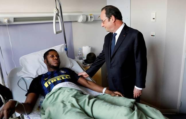 Aulnay-sous-Bois, le 7 février 2017. François Hollande s'est rendu au chevet de Théo, blessé lors de son interpellation le 4 février.