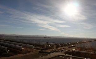 La centrale solaire de Noor, au Maroc, le 12 octobre 2016.