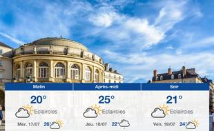 Météo Rennes: Prévisions du mardi 16 juillet 2019