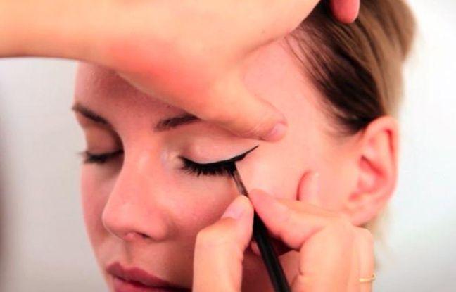 Tuto maquillage comment se faire un trait de liner - Comment faire un trait de liner ...