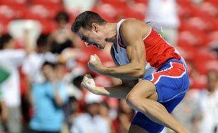 Le Français Romain Barras est arrivé 5e au décathlon, le 22 août 2008.