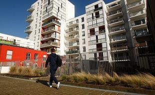 Des immeubles de logement sur l ile de Nantes