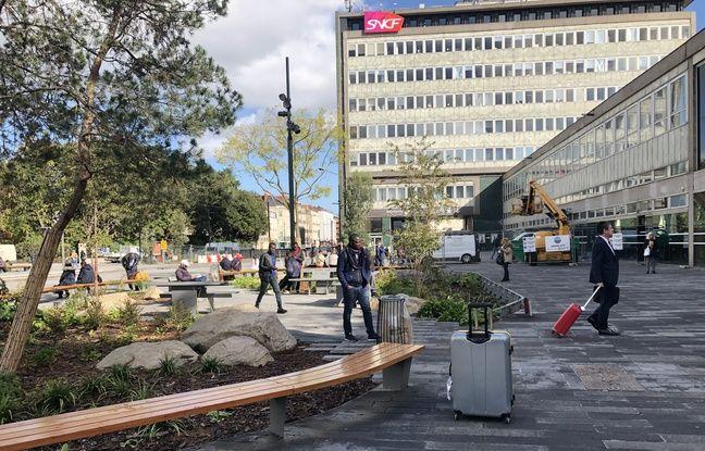 Nantes: «Joli», «apaisant», «trop minéral»... Après deux ans de travaux, le parvis de la gare est achevé