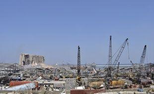 La zone autour de l'explosion de Beyrouth, qui a provoqué au moins 135 morts et plus de 5.000 blessés