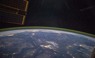 Une photo de la Terre prise de la Station spatiale internationale en 2014