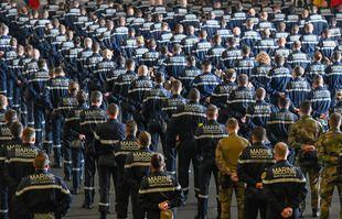 Déplacement du Premier ministre Jean Castex, accompagné de Florence Parly, ministre des Armées à bord du porte-avions Charles-de-Gaulle, à Toulon, le 05 juin 2021.