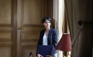 Najat Vallaud-Belkacem, ministre de l'Education nationale, dans son bureau rue de Grenelle (Paris VIIe), en mai 2015.