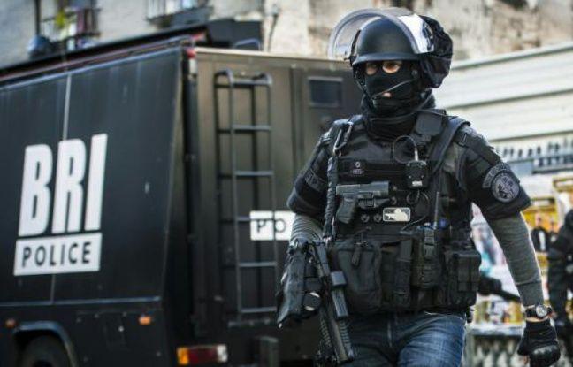Des policiers de la BRI le 18 novembre 2015 lors de l'assaut à Saint-Denis.
