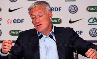 Didier Deschamps, lors de la présentation de la liste des 23 appelés en équipe de France, jeudi 16 mars.
