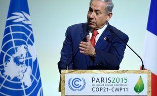 Le premier ministre israëlien Benjamin Netanyahu, à l'ouverture de la COP21, le 30 novembre 2015 au Bourget, près de Paris