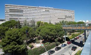 Marseille le 5 septembre 2013 - Illustration sur l' hopital nord et la securite dans les hopitaux