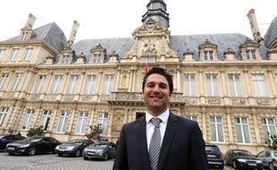 Arnaud Robinet, élu maire de Reims le 30 mars 2014 .