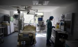 L'hôpital parisien de La Pitié-Salpêtriere, en avril 2020.
