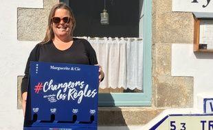 Gaële Le Moane est la fondatrice de la société Marguerite et Cie, qui produit des distributeurs de protections périodiques.